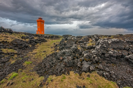Lighthouse in the Lava Field
